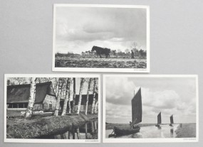 Hans Saebens, drei Postkarten