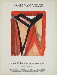 Bram van Velde, Orig. Lithografie, Plakat