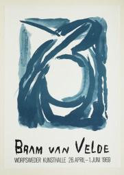 Bram van Velde, Plakat, Worpsweder Kunsthalle