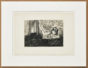 Edgar Degas, Radierung, La maision Tellier
