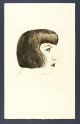 Otto Dix, Radierung, Mutzli, Bildnis Martha Dix, 1924