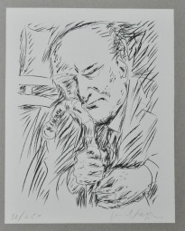 Pericle Fazzini, Porträt Guiseppe Ungaretti, 1967