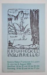 Erich Heckel, Ausstellungsplakat