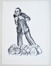 Käthe Kollwitz, Der Agitationredner, Lithografie