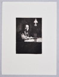 Käthe Kollwitz, Selbstbildnis am Tisch