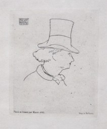 Edouard Manet, Charles Baudelaire de Profil