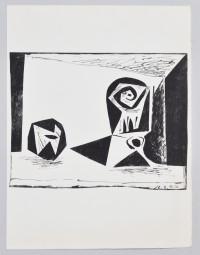 Picasso, Composition au verre à pied
