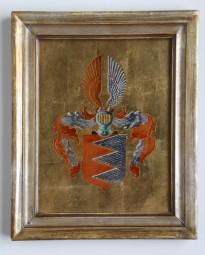 Werner Rohde, Hinterglasmalerei, Wappen