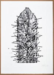 Günther Uecker, originale Lithografie Goslar 1983