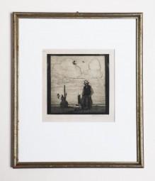 Heinrich Vogeler, der Fischer, Radierung