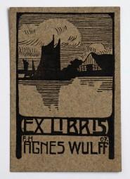 Franz Hermann, Ex Libris Agnes Wulff Holzschnitt 1907