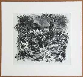 Max Beckmann, Lithografie Tegeler Freibad 1911