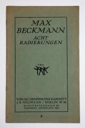 Max Beckmann, Acht Radierungen, Katalog