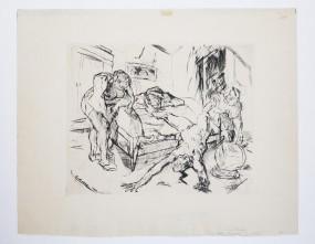 Max Beckmann, Die Nacht, Radierung 1914