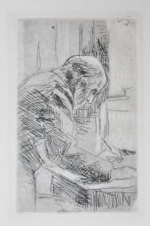 Bonnard, Pierre originale Radierung, Selbstportrait