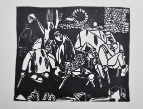 Heinrich Campendonk, Die Bettler (nach Bruegel) 1922