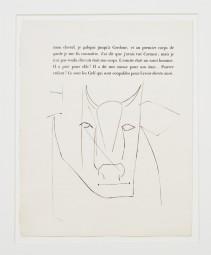 Pablo Picasso, Stierkopf Kaltnadelradierung 1949, 320 Expl.