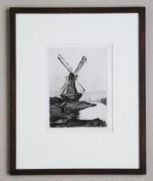 Ury Lesser, Radierung, Mühle