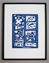 Otto Nebel, Linolschnitt, Komposition 1957