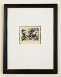 Pablo Picasso, Radierung aus La Celestine, Célestine et Mousquetaire 1968