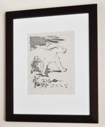 Pablo Picasso, Le Lionne, Aquatintaradierung aus Buffon