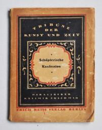 Kasimir Edschmid, Broschüre Schöpferische Konfession 1920