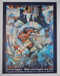 Heinrich Vogeler, Ausstellungsplakat Bilder und Grafik nach 1920