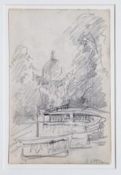 Gert Heinrich Wollheim, seltene Bleistiftskizze um 1911